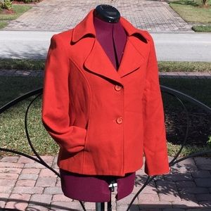 COLDWATER CREEK Orange Wool Blazer Jacket - Sz 6